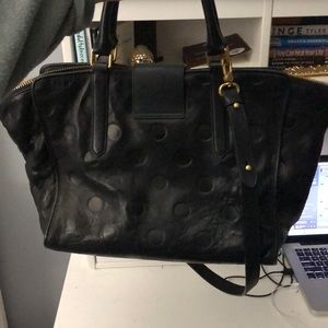 f849132500564 Marc By Marc Jacobs Bags - Marc by Marc Jacobs Black Dot Embossed Leather  Bag
